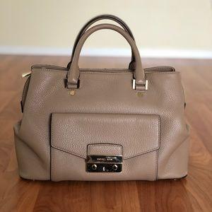 Michael Kors Haley Large Satchel Handbag Purse